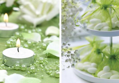 Grün ist eine tolle und symbolische Dekofarbe für die Taufe