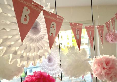 Raumdeko in Rosa, Pink & Weiß