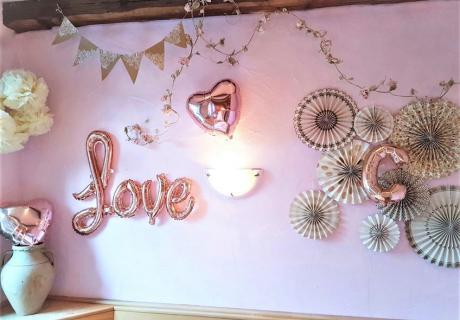 Schmück die Wand für die Taufe deiner kleinen Tochter im Vintage-Stil! (c) c.loves.c