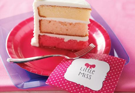It's a girl - Gender Reveal Kuchen in Pink