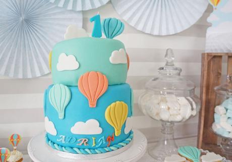 Heißluftballontorte zum 1. Geburtstag
