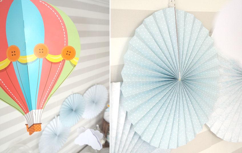 Heißluftballons als Deko für den Sweet Table