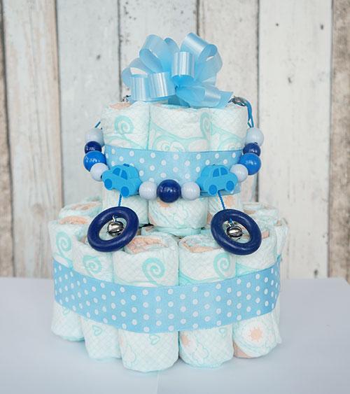windeltorte junge blaue baby belly party blog. Black Bedroom Furniture Sets. Home Design Ideas