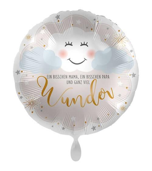 "Folienballon mit Wolke ""Baby Wunder"" - 43 cm"