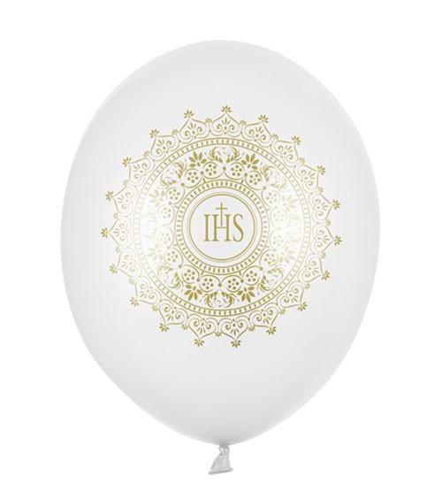 """Luftballons """"IHS"""" - gold - 6 Stück"""