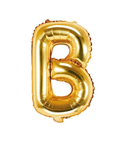 "Folienballon Buchstabe ""B"" - gold - 35 cm"