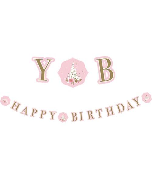 "Happy Birthday Girlande ""Princess for a Day"" - 1,7 m"