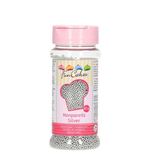 FunCakes Zuckerperlen - silber - 80 g