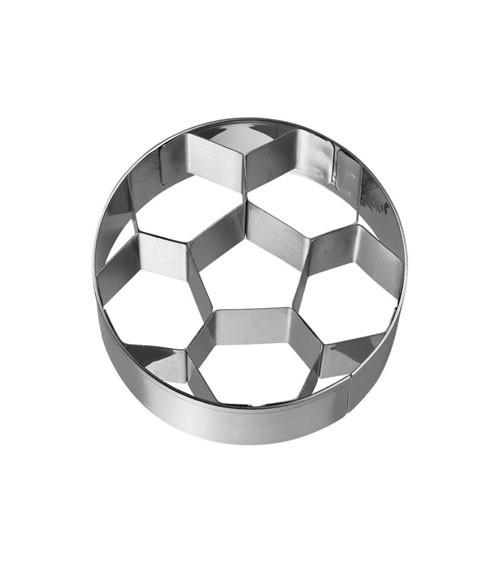 Ausstechform mit Innenprägung Fußball - 6,5 cm