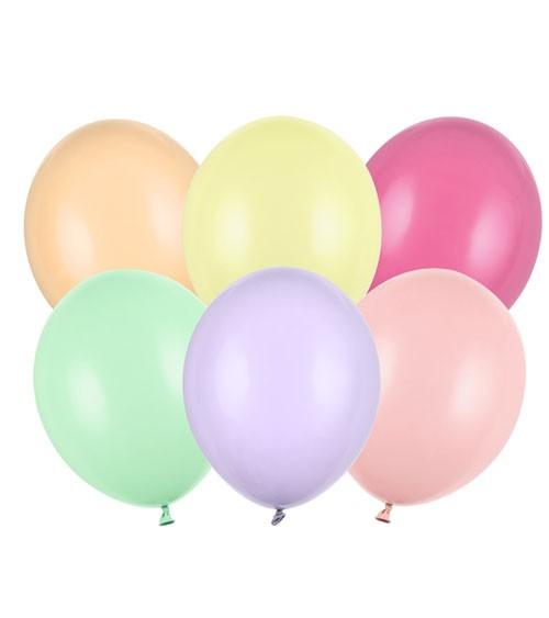 Standard-Luftballons - Pastell Mix - 30 cm - 10 Stück