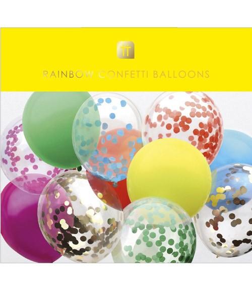 "Luftballon-Set mit Band ""Rainbow"" - 13-teilig"