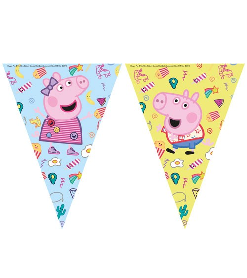 "Wimpelgirlande ""Peppa Wutz Party"" - 2,3 m"