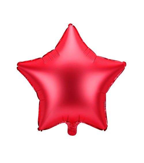 Stern-Folienballon - satin rot - 48 cm