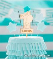 """Dein Cake-Topper """"1. Geburtstag - Party"""" aus Holz - Wunschtext"""