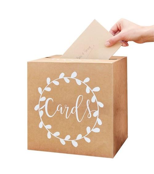 """Kartenbox """"Cards"""" - Kraftpapier - 25 x 25 cm"""