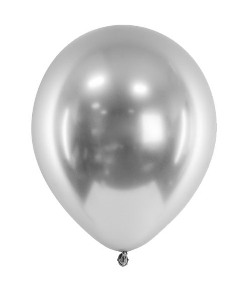 Glossy-Luftballons - silber - 50 Stück