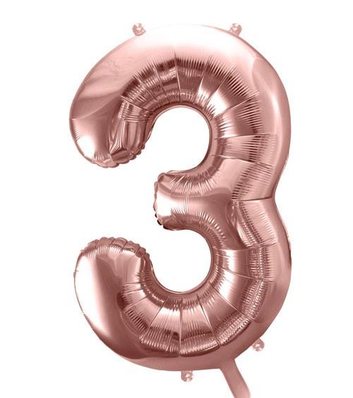 "SuperShape Folienballon ""3"" - rosegold"