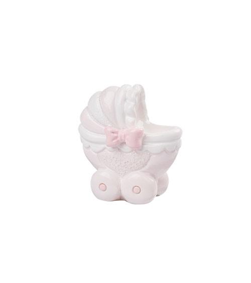 """Deko-Figur """"Baby Girl Kinderwagen"""" - 3,5 cm"""