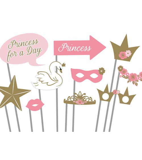 """Photobooth Props """"Princess for a Day"""" - 10 Stück"""