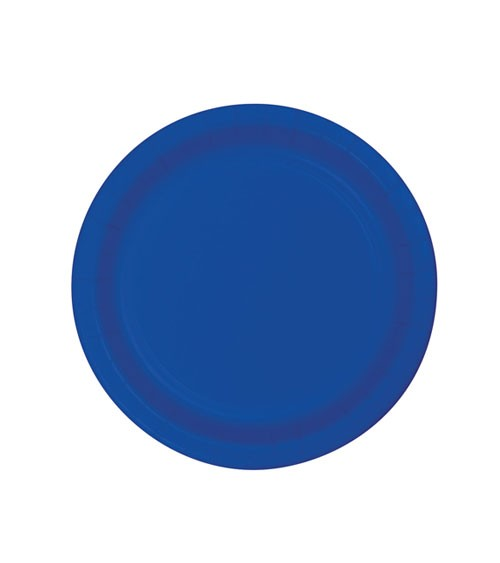 Kleine Pappteller - kobaltblau - 24 Stück