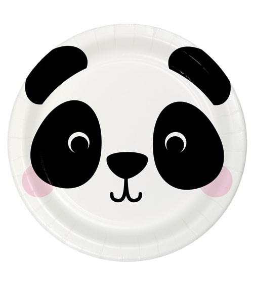 "Pappteller ""Animal Faces"" - Panda - 8 Stück"