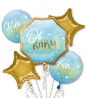 """Folienballon-Set """"Oh Baby"""" - Boy - 5-teilig"""