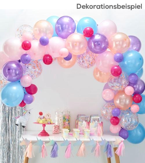 "Ballongirlanden-Set ""Farbmix Pastell"" - 80-teilig"