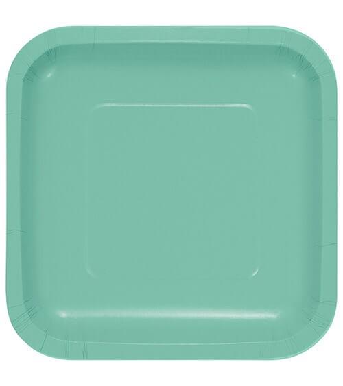 Eckige Pappteller - fresh mint - 18 Stück