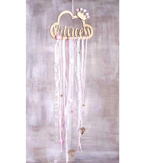 """DIY-Set """"Princess"""" mit Holzhänger und Bändern"""