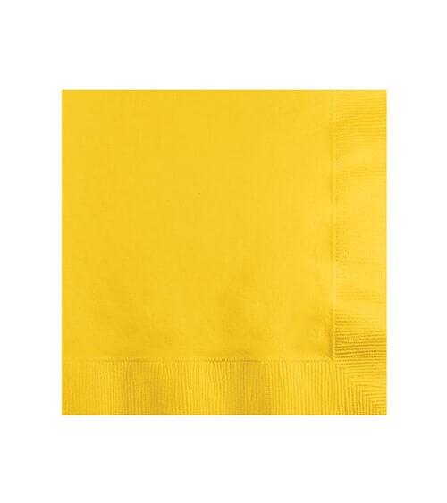 Cocktail-Servietten - schoolbus yellow - 50 Stück