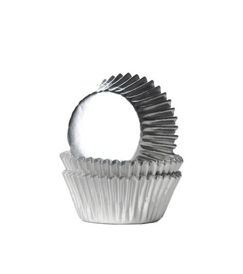 "Mini-Muffinförmchen ""Metallic Silber"" - 36 Stück"
