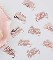 """Konfetti """"Happy Birthday"""" - rosegold - 14 g"""