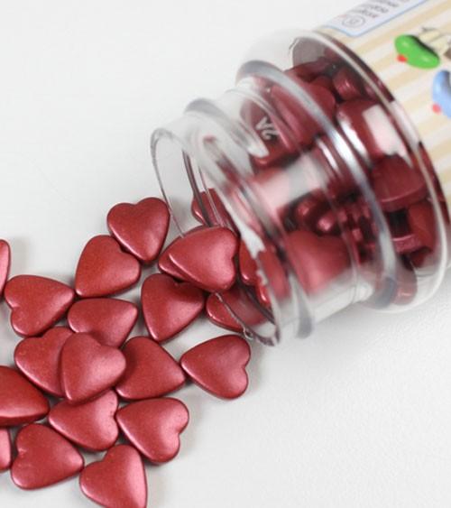 FunCakes Zuckerherzen - perlmutt bordeaux - 80 g