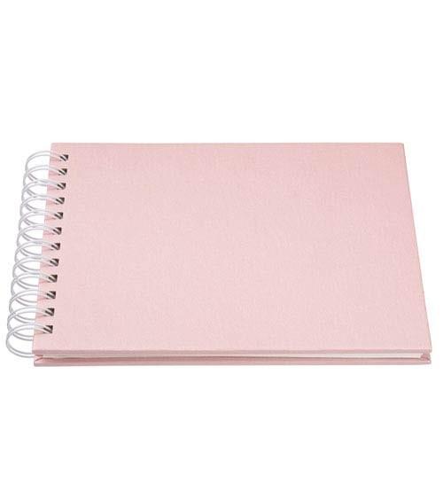 Ringbuch-Album - perlmutt rosa - 22 x 17 cm