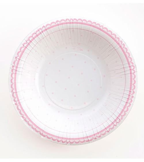 """Pappschüsseln """"Petite Rosa"""" - 8 Stück"""