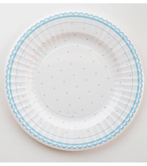 """Große Pappteller """"Petit Blue"""" - 8 Stück"""