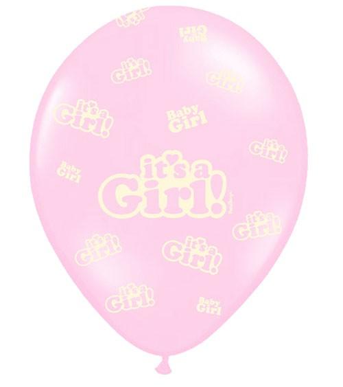 "Luftballons ""It's a Girl!"" - rosa - 50 Stück"