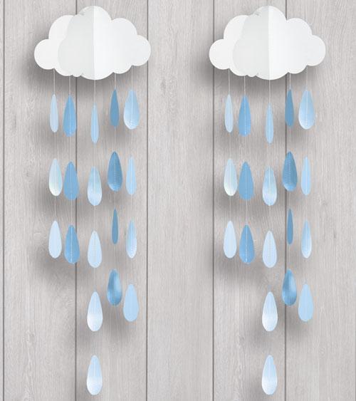 Deko Mobile Wolke Mit Blauen Tropfen 2 Stück