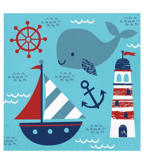 """Servietten """"Ahoy Baby"""" - 16 Stück"""