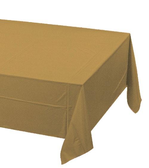 Kunststoff-Tischdecke - shimmering gold - 137 x 274 cm