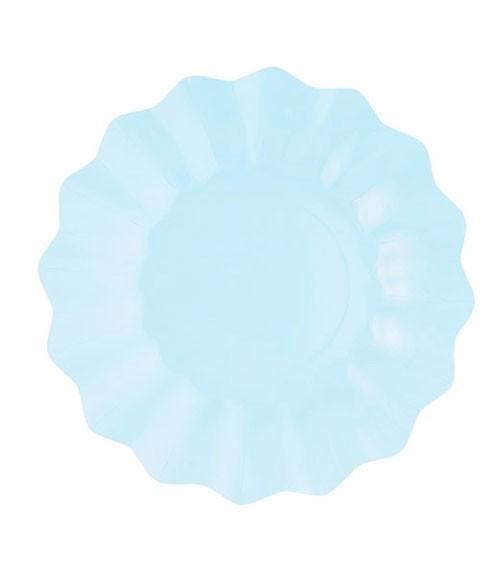 Pappteller - light blue - 8 Stück