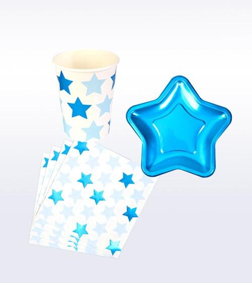 "Deko-Set ""Little Star Blue"" - 32-teilig"