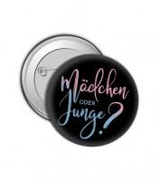 """Button """"Gender Reveal"""" - schwarz"""