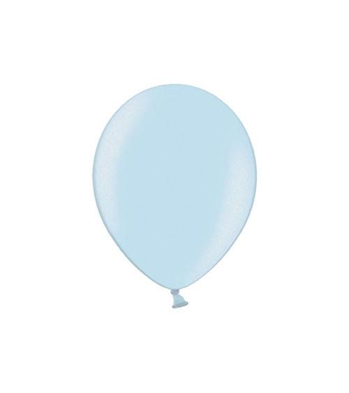 Mini-Luftballons - metallic pastellblau - 12 cm - 100 Stück