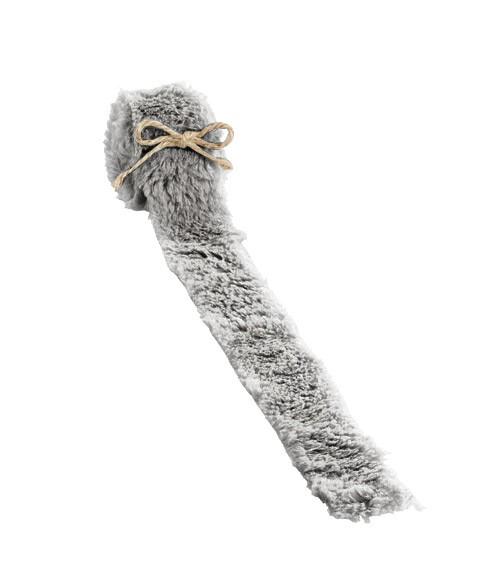 Plüschfell-Band - grau - 4 cm x 2 m