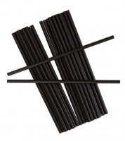 Papierstrohhalme - schwarz - 25 Stück