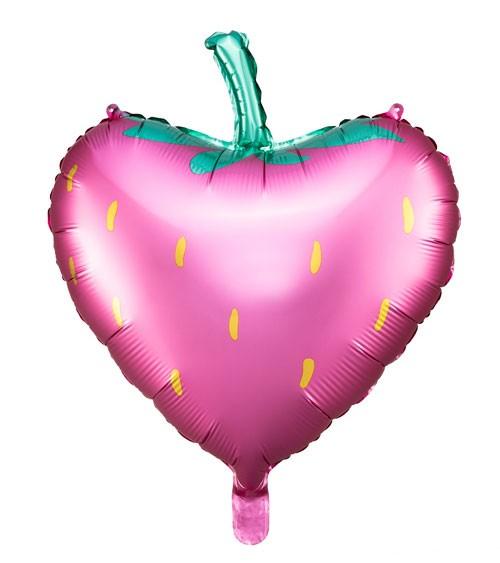 "Herz-Folienballon ""Erdbeere"" - 42 x 45 cm"