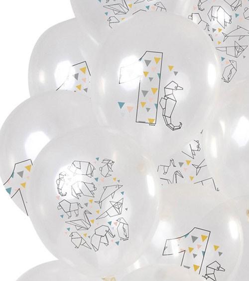 "Luftballon-Set ""Origami"" - 1. Geburtstag - 12-teilig"