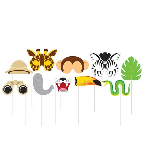 "Photobooth-Props ""Dschungel Safari"" - 10 Stück"