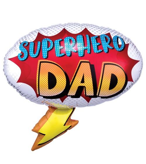 "SuperShape-Folienballon ""Superhero Dad"" - 68 x 66 cm"